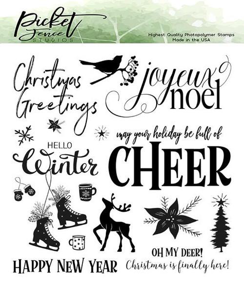 Picket Fence Studios Joyeux Noel Stamp Set