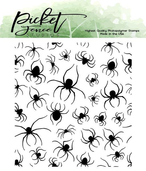 Picket Fence Studios Marching Spiders Stamp Set