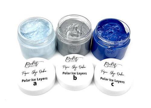 Picket Fence Studios Paper Glaze Ombré - Polar Ice Layers (3 pk)