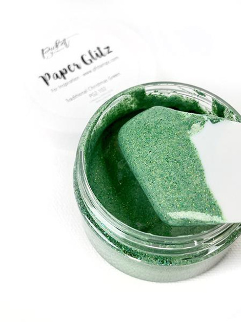 Picket Fence Studios Paper Glitz Traditional Christmas Green