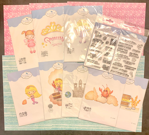 BUNDLE: Elizabeth Craft Fairy Princess and Mermaid Dies (8) and Stamps (2) + Paper Set