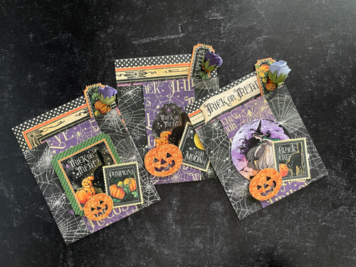 Graphic 45 Midnight Tales Interactive Shutter Card Set 2021 Monthly Card Kit Volume 8