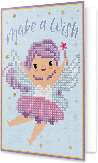 Diamond Dotz Pixie Make A Wish Greeting Card