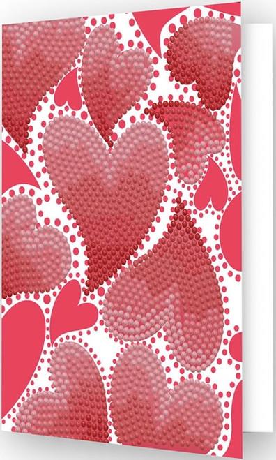 Diamond Dotz Heart Swirl Greeting Card