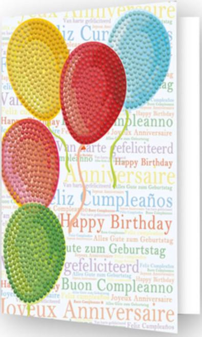Diamond Dotz Balloons on High Greeting Card