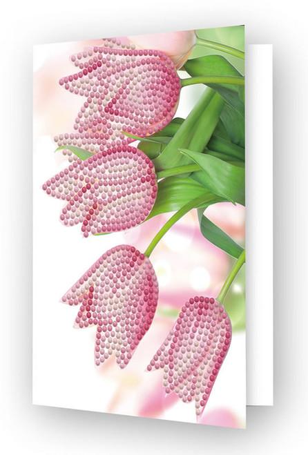 Diamond Dotz Romantic Tulips Greeting Card