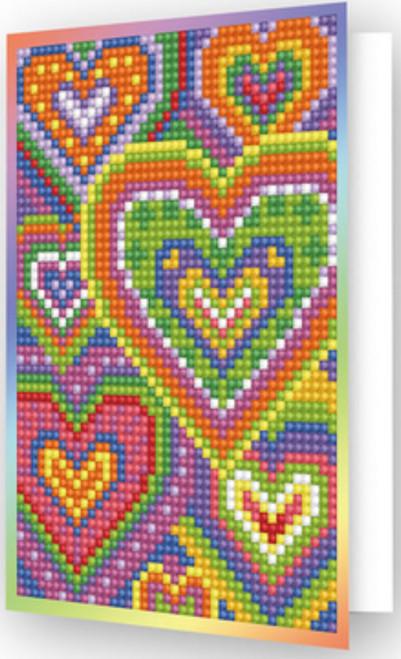 Diamond Dotz Heart Mosaic Greeting Card