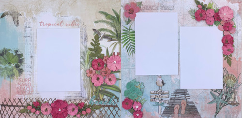 Tropical Vibes 2-Page Layout (Virtual Class 30)