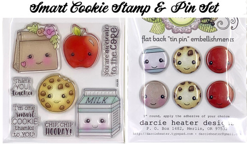 Darcie's Heart & Home Smart Cookie Stamp & Pin Set