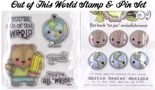 Darcie's Heart & Home Out of This World Stamp & Pin Set