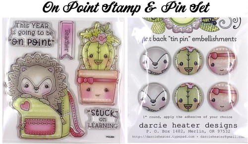 Darcie's Heart & Home On Point Stamp & Pin Set