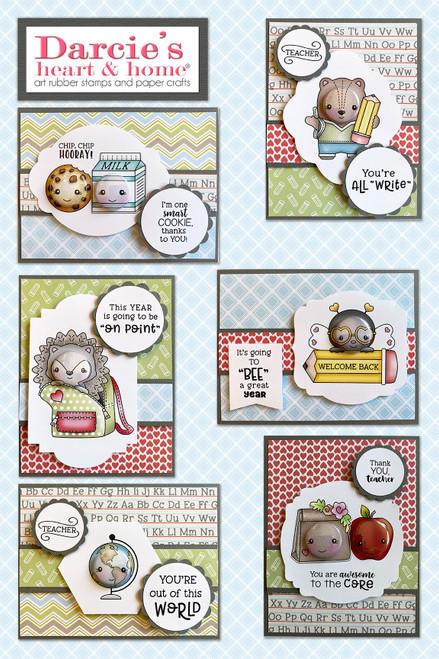 Darcie's Heart & Home School Teacher Card Kit