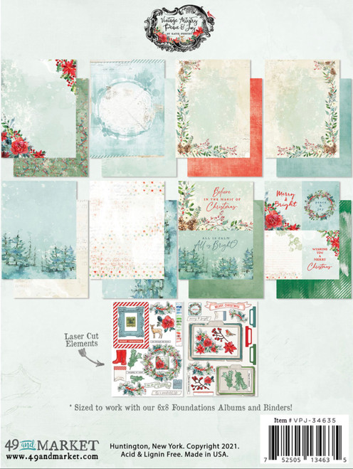 """49 and Market Vintage Artistry Peace & Joy 6"""" x 8"""" Collection Pack"""