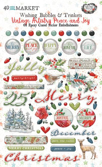 49 and Market Vintage Artistry Peace & Joy Wishing Bubbles & Trinkets