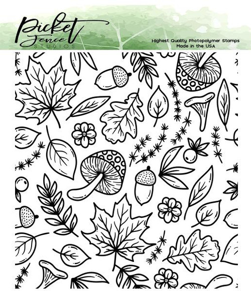 Picket Fence Studios A Medley of Fall Collage Stamp