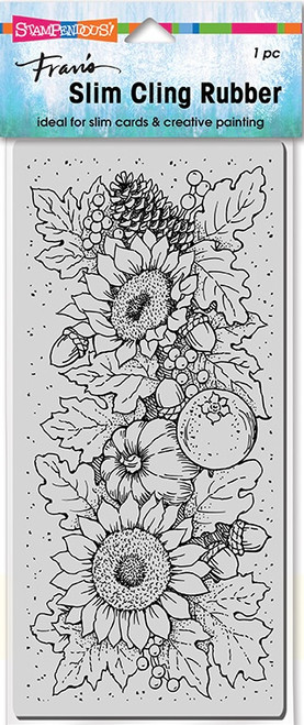 Stampendous Slim Line Fall Sunflowers Cling Rubber Stamp