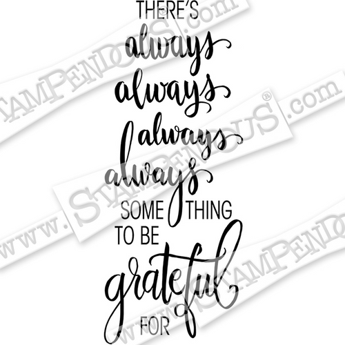 Stampendous Always Grateful Cling Rubber Stamp