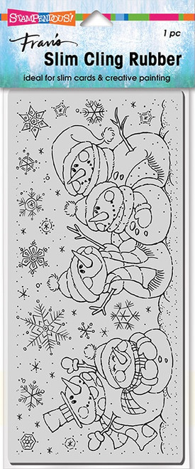 Stampendous Slim Line Snow People Cling Rubber Stamp