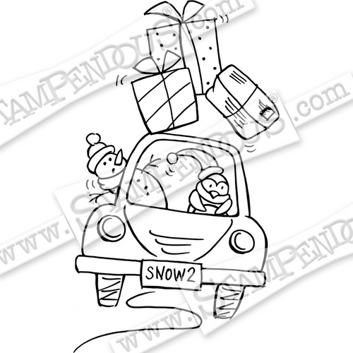 Stampendous Holiday Delivery Cling Rubber Stamp