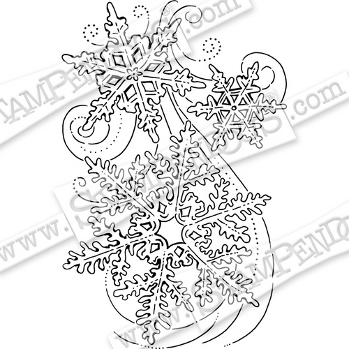 Stampendous Snow Swirls Cling Rubber Stamp