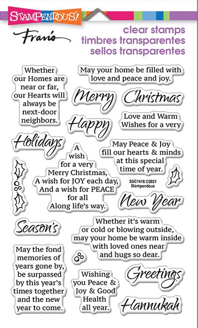 Stampendous Times Together Perfectly Clear Stamps