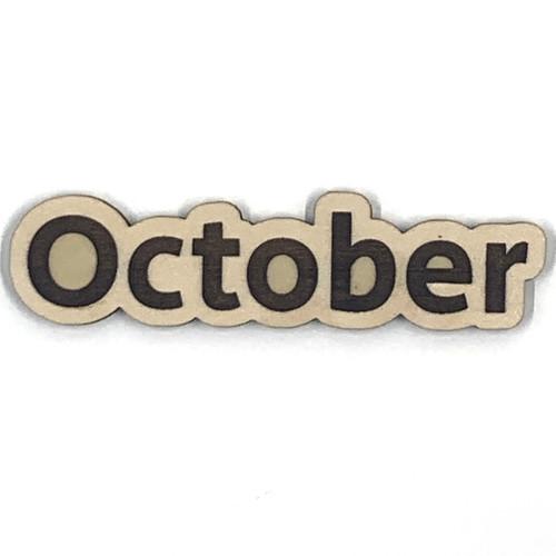 October Wooden Embellishment