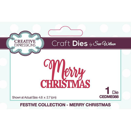 Creative Expressions Mini Expressions Merry Christmas Die