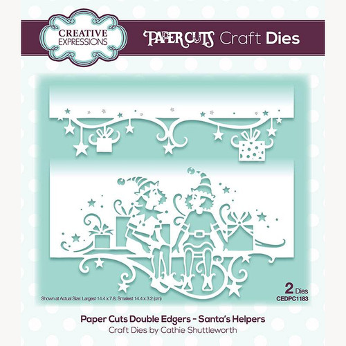 Creative Expressions Paper Cuts Santa's Helpers Double Edgers Die Set