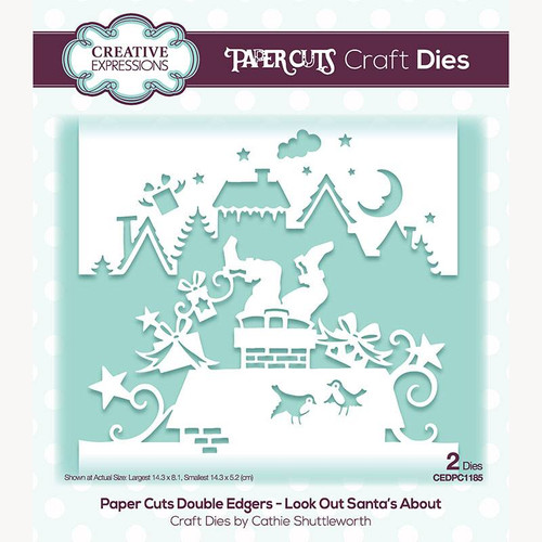 Creative Expressions Paper Cuts Look Out Santa's About Double Edgers Die Set