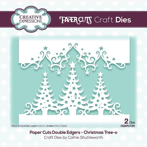 Creative Expressions Paper Cuts Christmas Tree - O Double Edgers Die Set