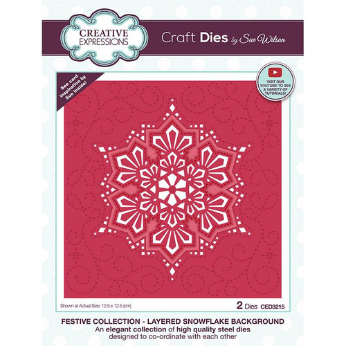 Creative Expressions Layered Snowflake Background Die Set
