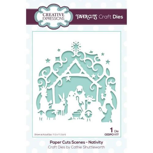Creative Expressions Paper Cuts Scenes Nativity Die