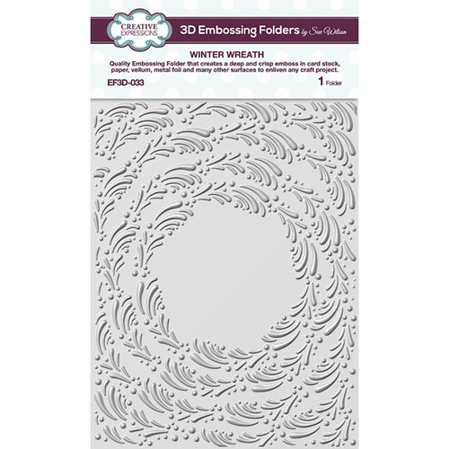 Creative Expressions Winter Wreath Embossing Folder