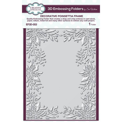 Creative Expressions Decorative Poinsettia Frame Embossing Folder