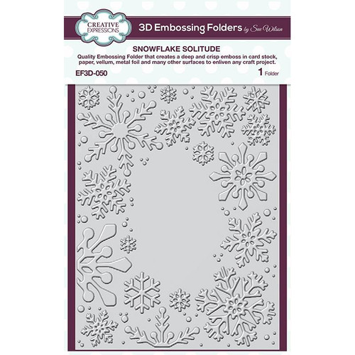 Creative Expressions Snowflake Solitude Embossing Folder