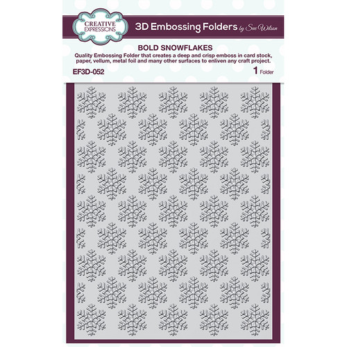 Creative Expressions Bold Snowflakes Embossing Folder