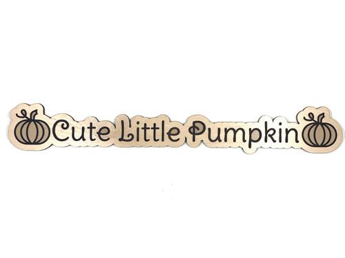 Cute Little Pumpkin Wooden Embellishment
