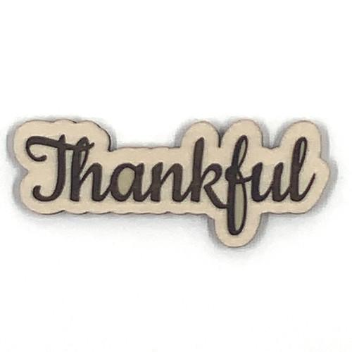 Thankful Wooden Embellishment