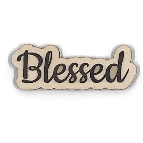Blessed Wooden Embellishment