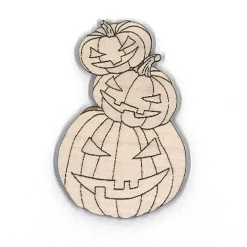 Halloween Pumpkin Trio Wooden Embellishment