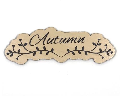 Autumn Swirl Wooden Embellishment