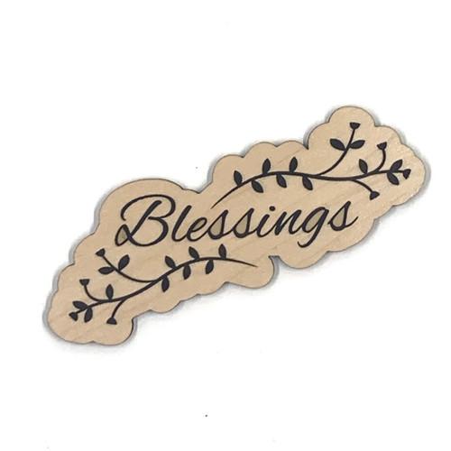 Blessings Wooden Embellishment