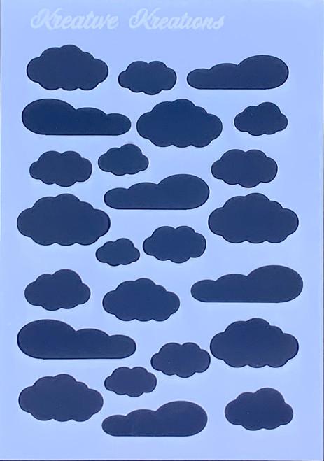 """Dreamy Clouds 4"""" x 6""""  Stencil"""