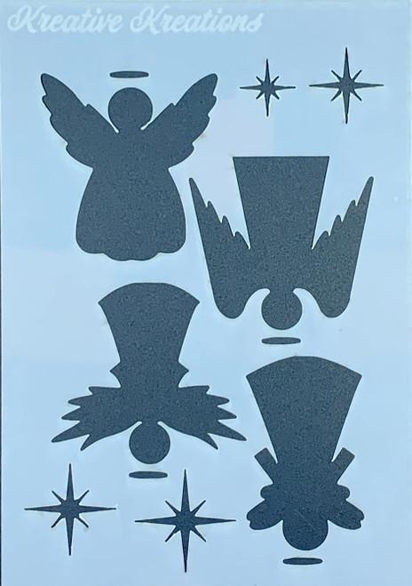 "Holy Angels 4"" x 6""  Stencil"