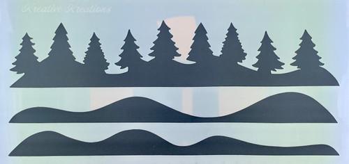 Winter Wonderland Slimline  Stencil