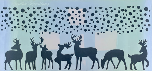 Reindeer Fun Slimline  Stencil