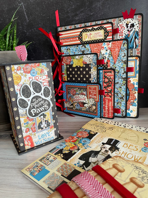 Graphic 45 Well Groomed Board Book & Treat Box Monthly Project (Volume 9/2021)