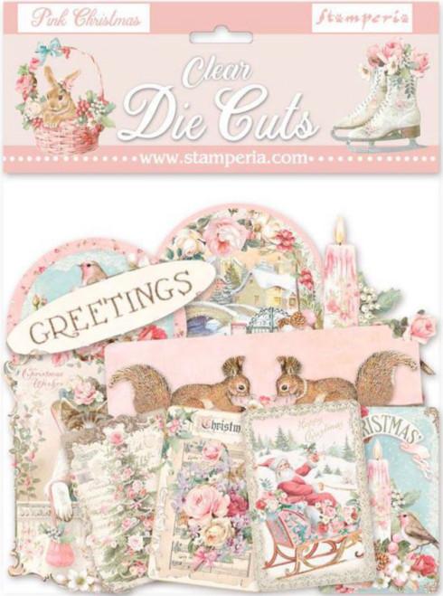 Stamperia Pink Christmas Clear Die Cuts