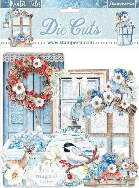 Stamperia Winter Tales Die Cuts Quotes and Labels