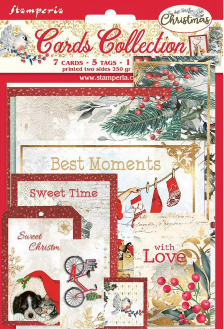 Stamperia Cards Collection - Romantic Christmas